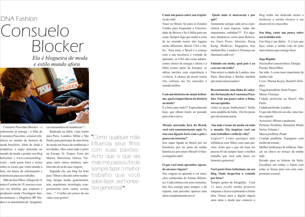 Revista Stela, Agosto 2013