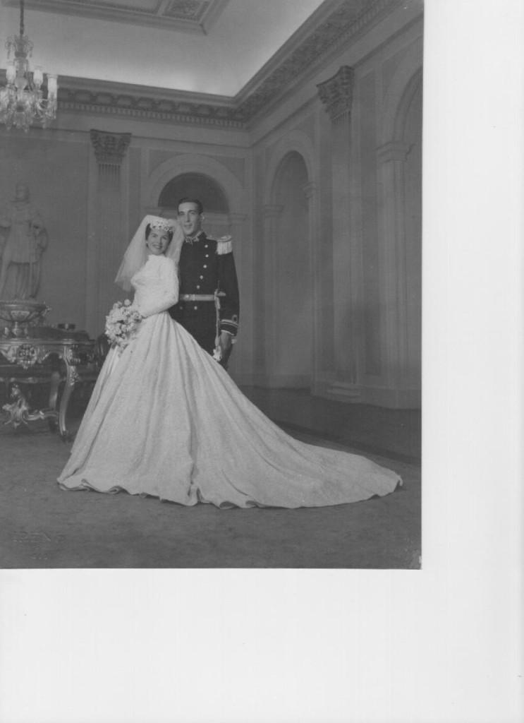 Pais de Ana Beatriz no dia do seu casamento.