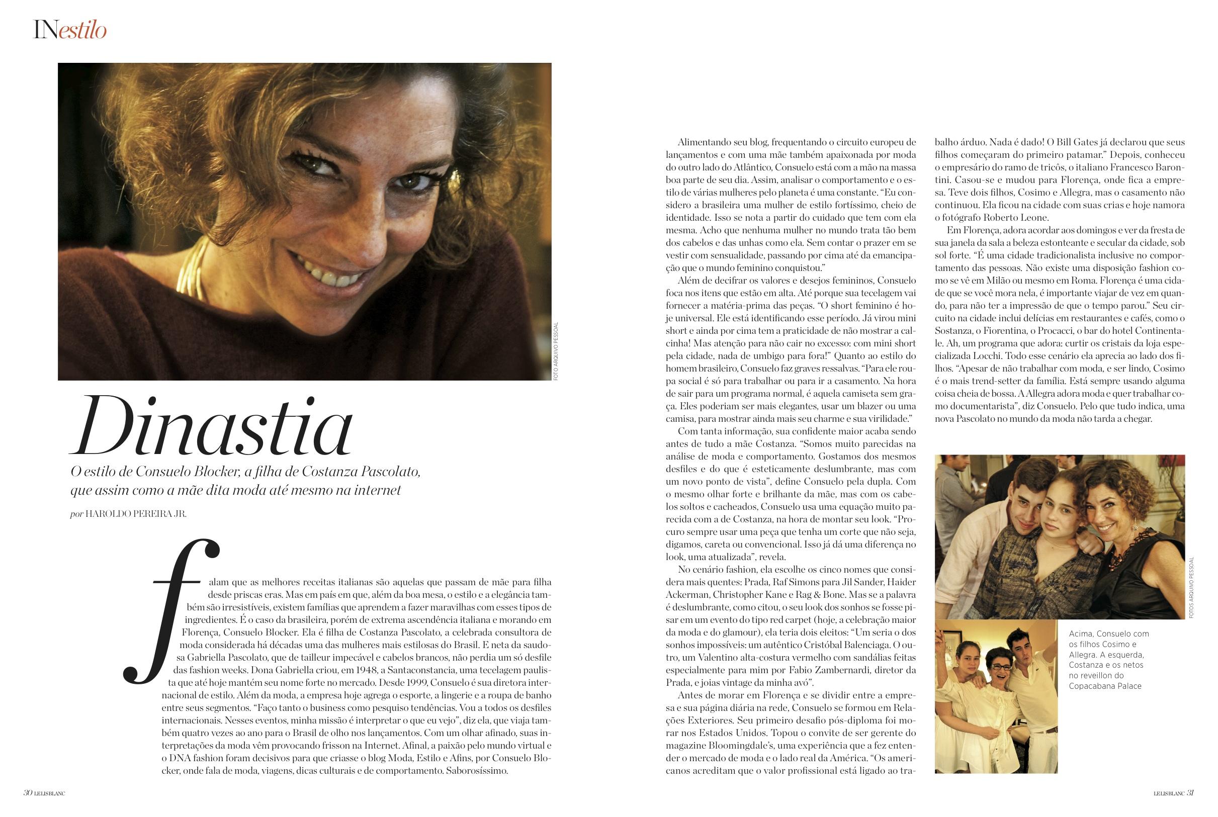 Revista Le Lis Blanc sobre Florença