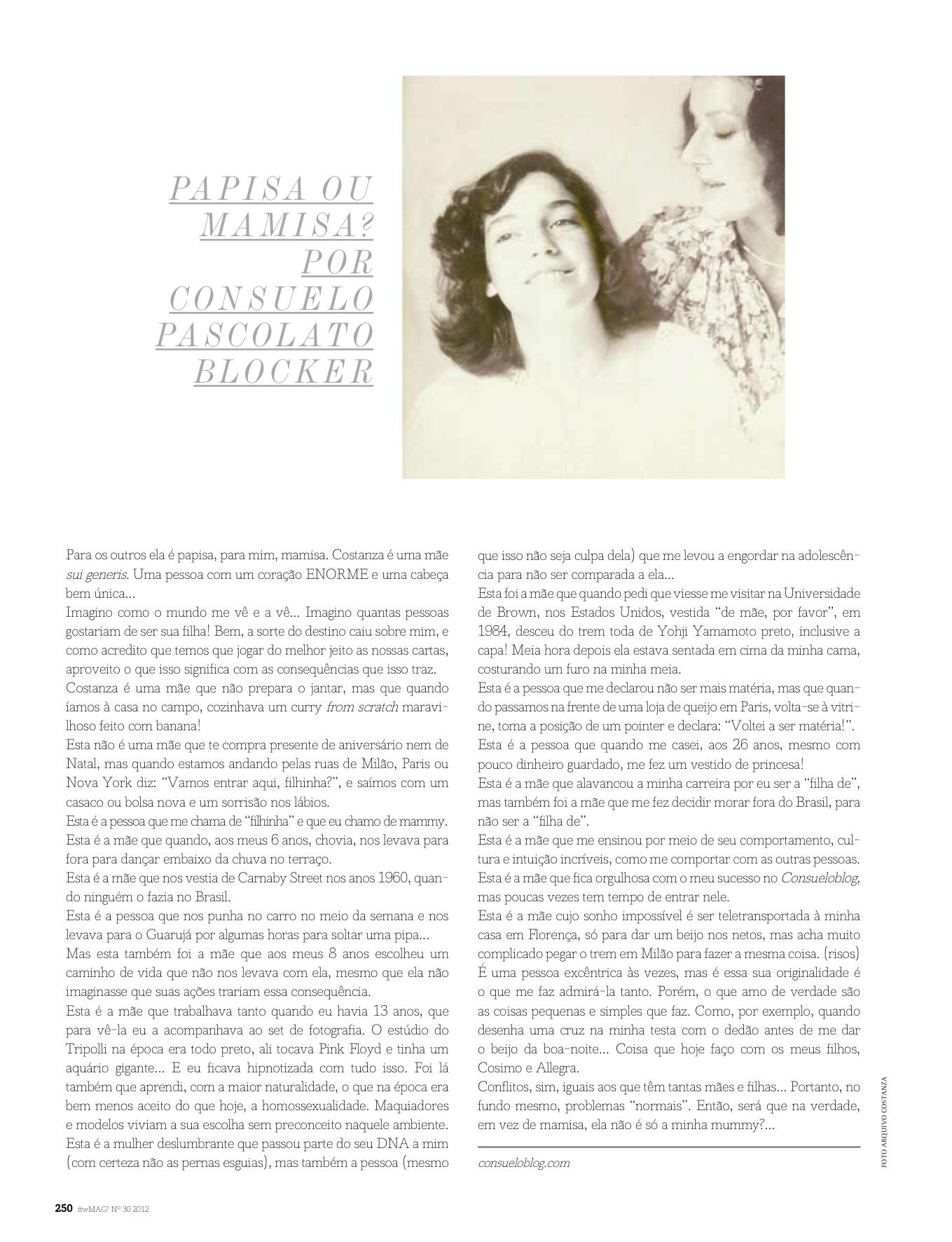 ffwMag!-Edição Coleções com Costanza como editora convidada.