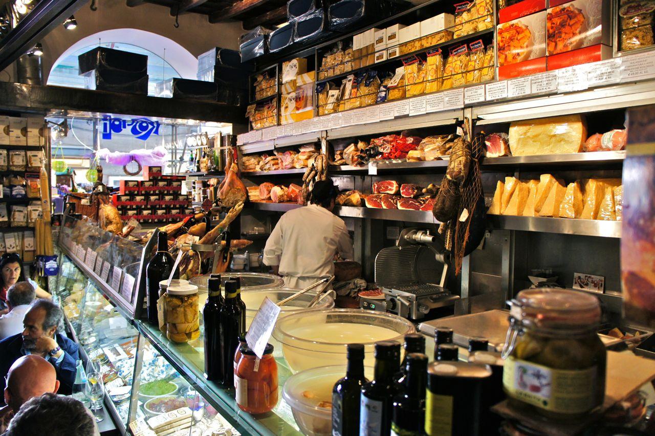 Restaurante e Shopping em Roma