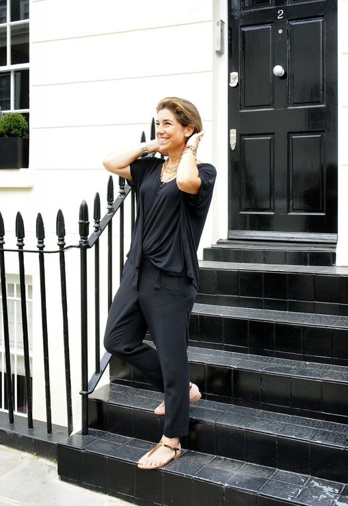 Eu adorei o passeio!! Top Ellus, calça Ann Demeulemeester, sandália Rondini.