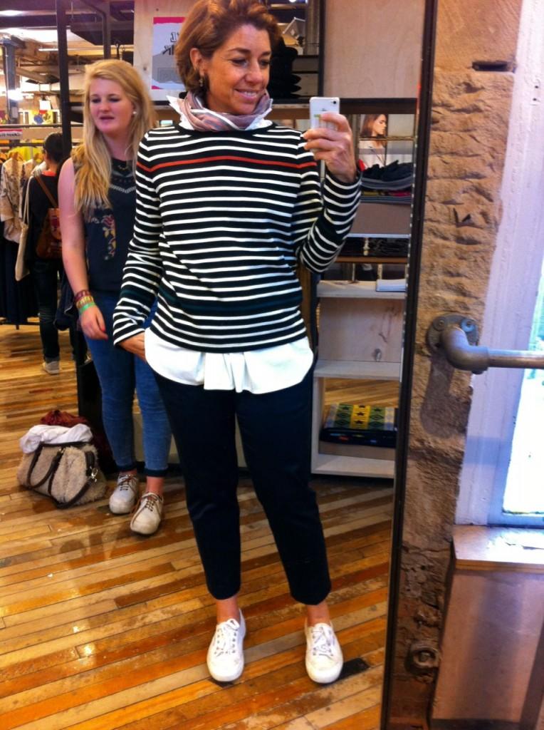 AMEI esta blusa da Petit Bateau (para criança, tamanho 18 anos) e já coloquei no look...
