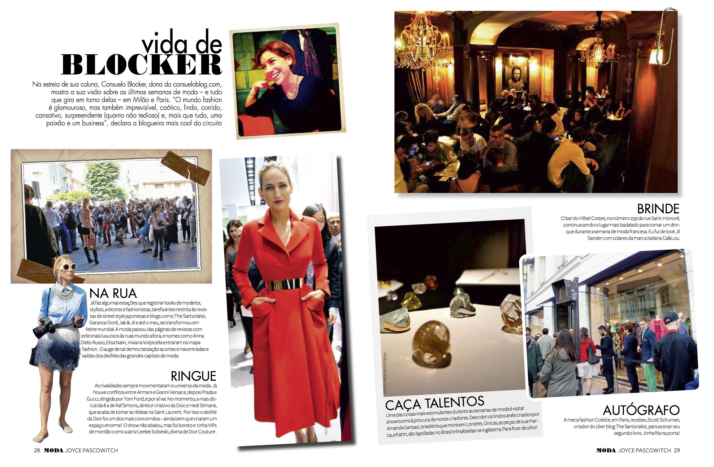 Inauguro a minha coluna na revista Moda: Vida de Blocker!!