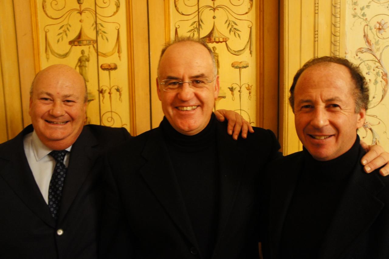 Os três primos são como irmãos! Leopoldo, Giuseppe e Roberto