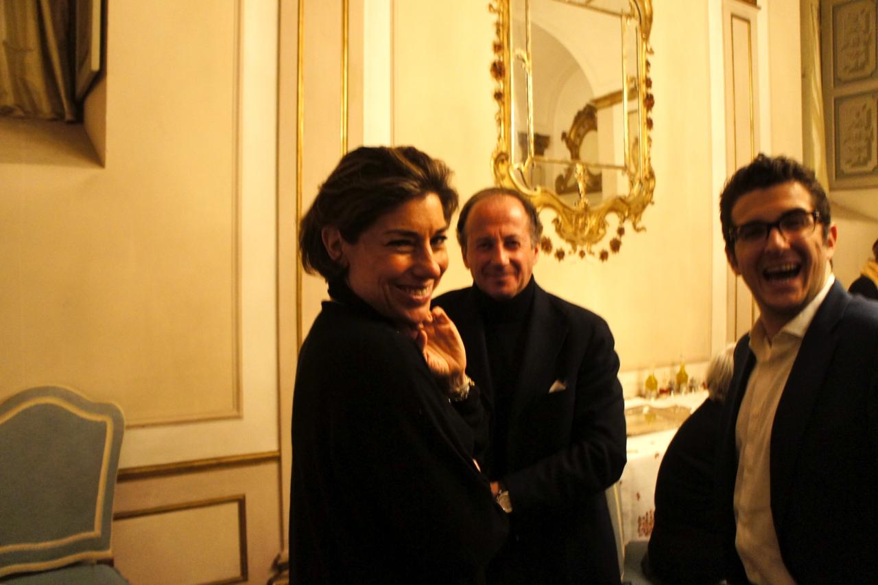 Feliz com Roberto e seu filho Niccoló.