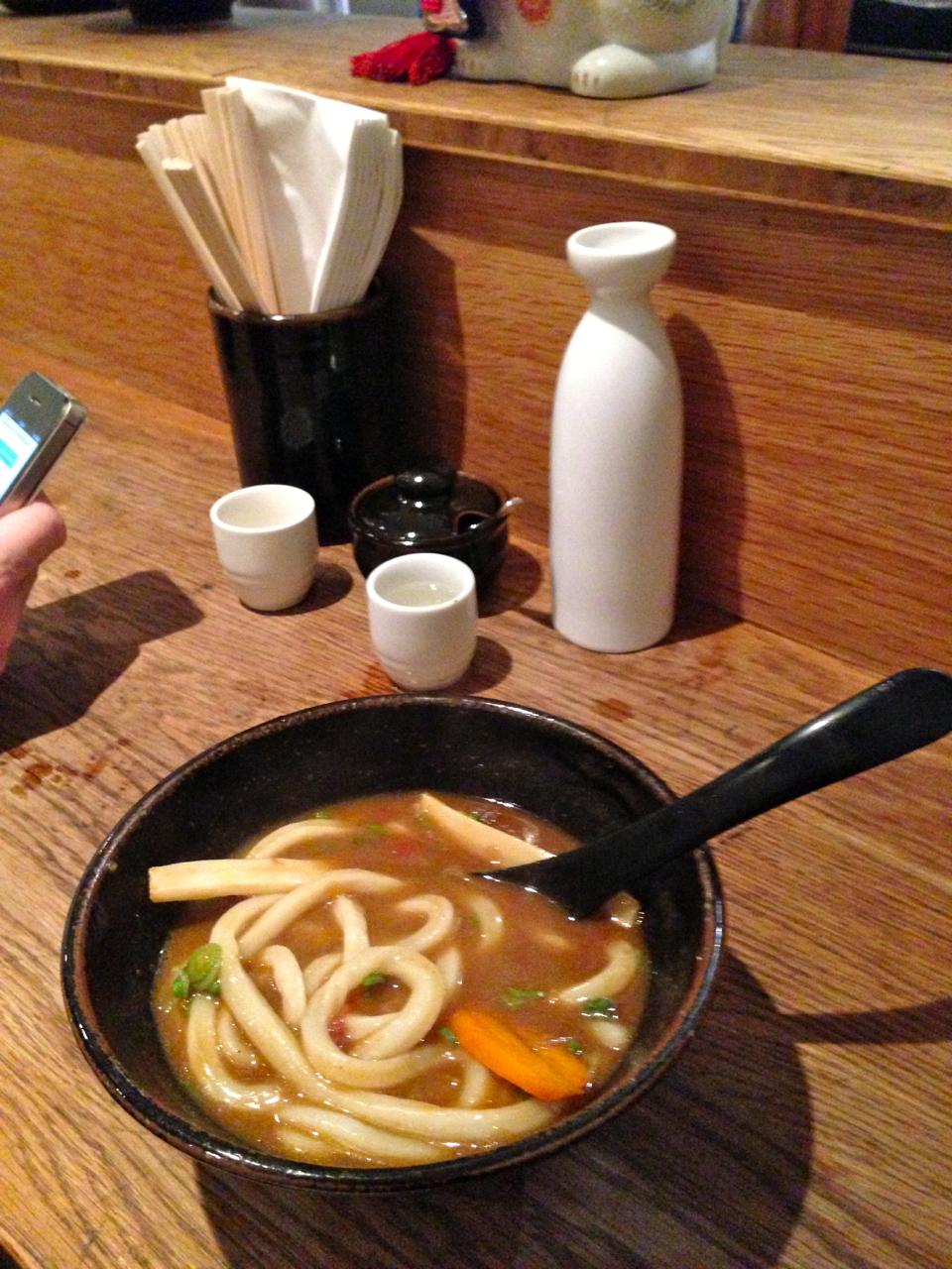 Ficamos tão animados que dividimos mais um Udon de curry...mas foi um pouco demais...