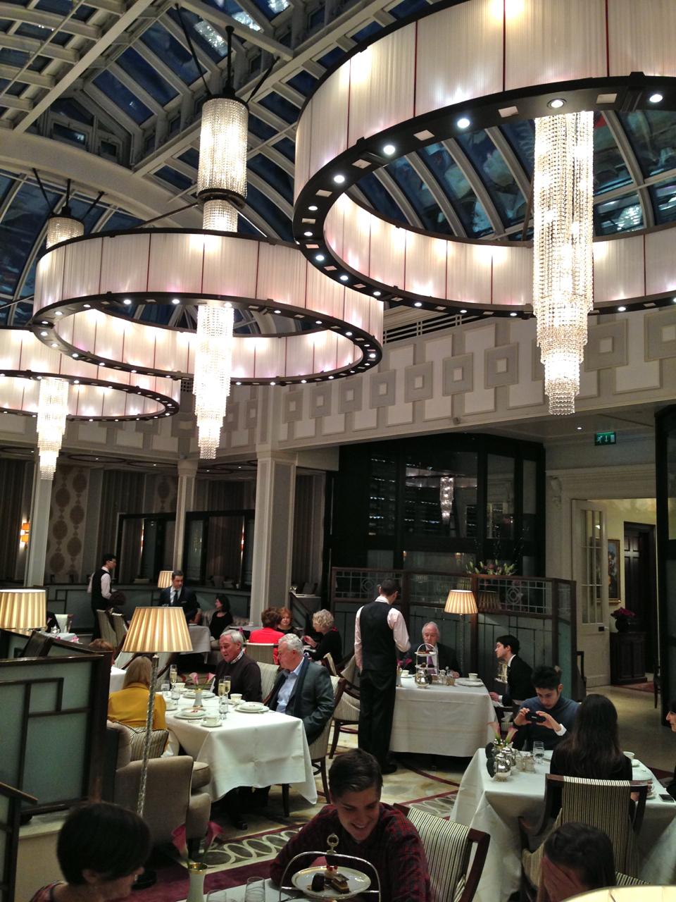 O salão de jantar, e high tea, é magnifico!