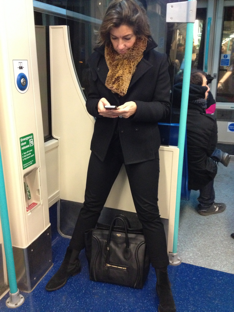 Na volta no metrô, já postando no Instagram...