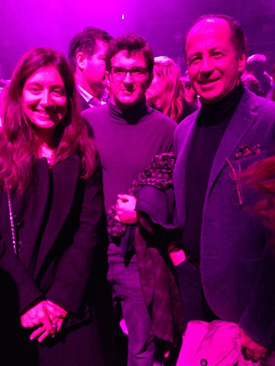 Andrea, Robbie e seu filho Niccoló.