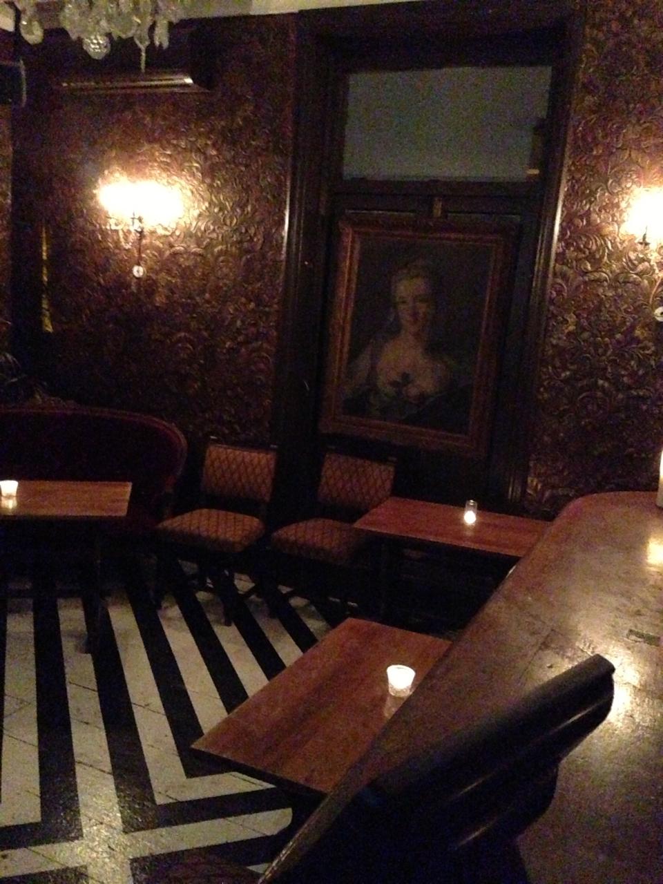 E vimos também a sala privé.