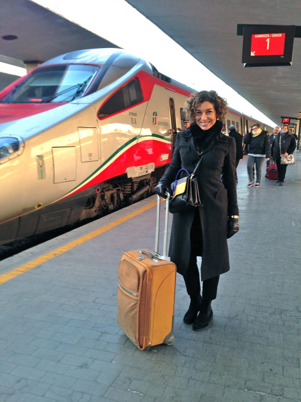 E aqui começa a viagem a Roma na estação Santa Maria Novella de Florença...