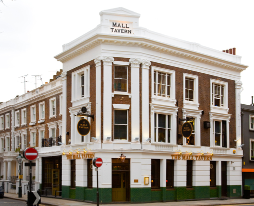 The Mall Tavern, pub com cuisine em Notting Hill