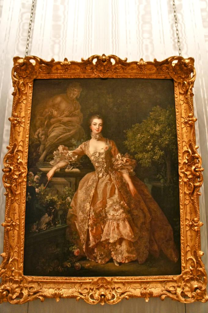 Quadro de Boucher da Madame de Pompadou, amante do rei da França, Louis XV