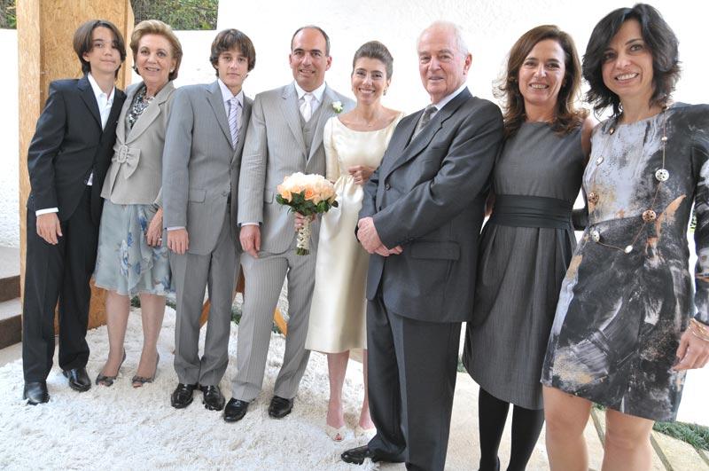 Fotos oficiais. A família de Carlos