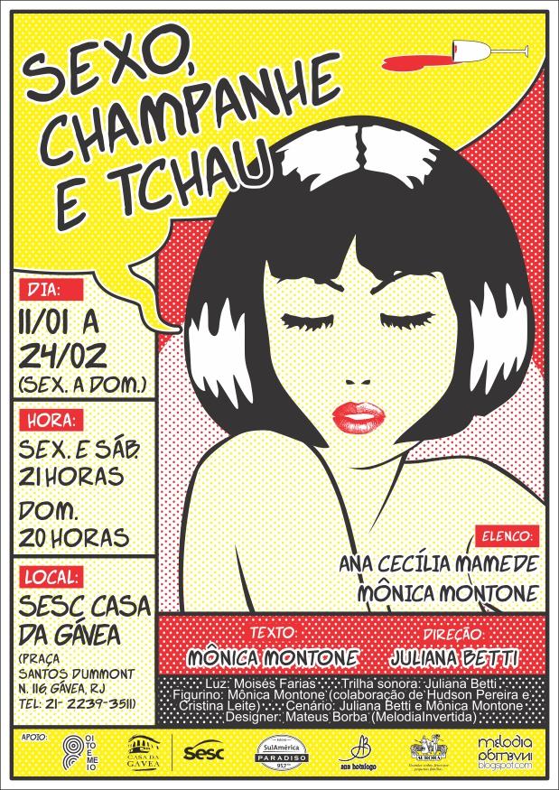 Aos amigos do Rio de Janeiro, sorteio para ingressos à peça Sexo, champagne e Tchau
