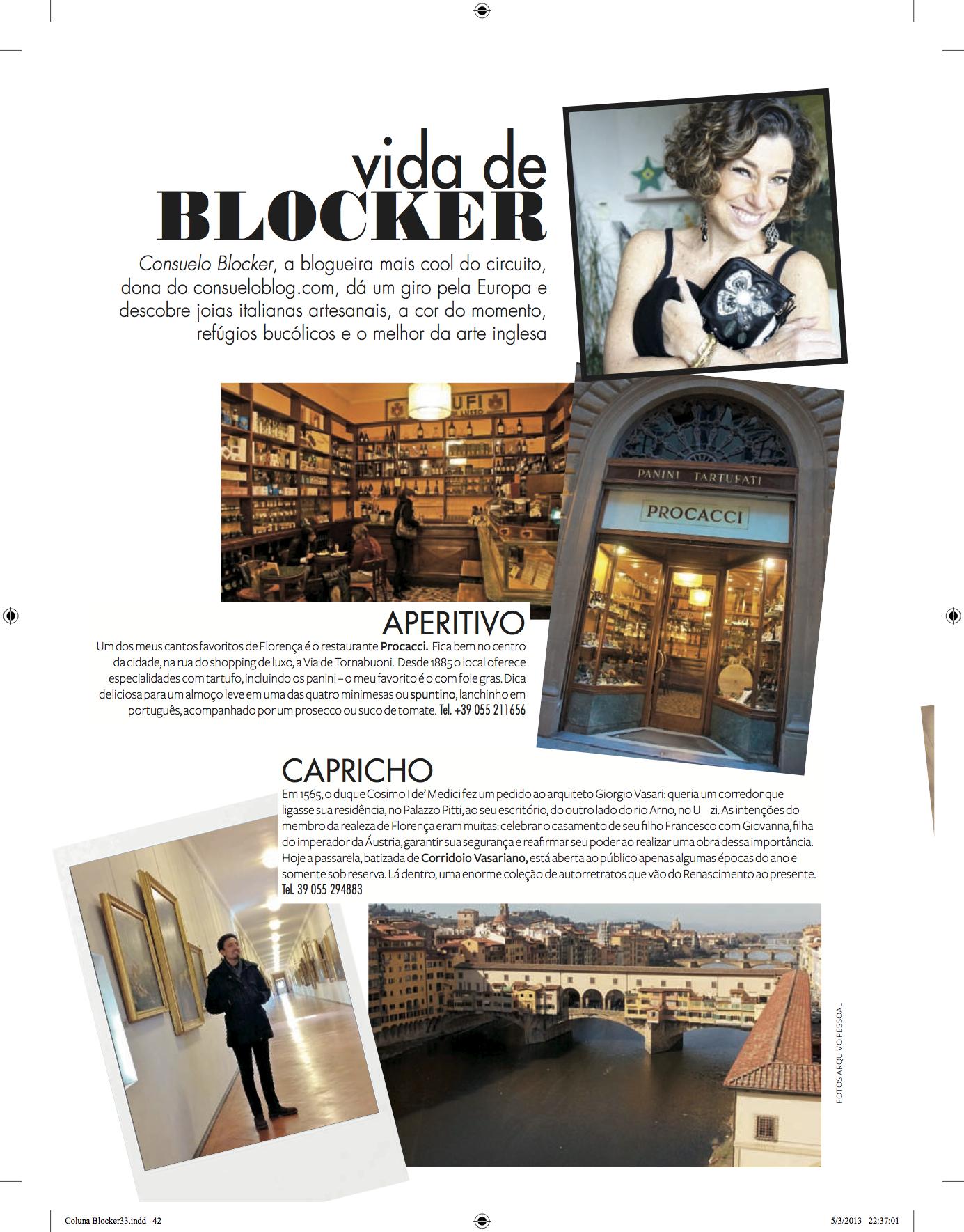 Revista Moda: Vida de Blocker de Março