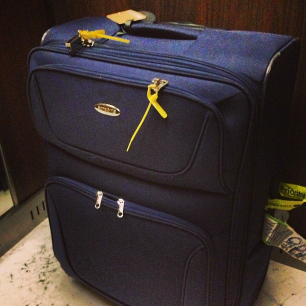 A mala chegou!