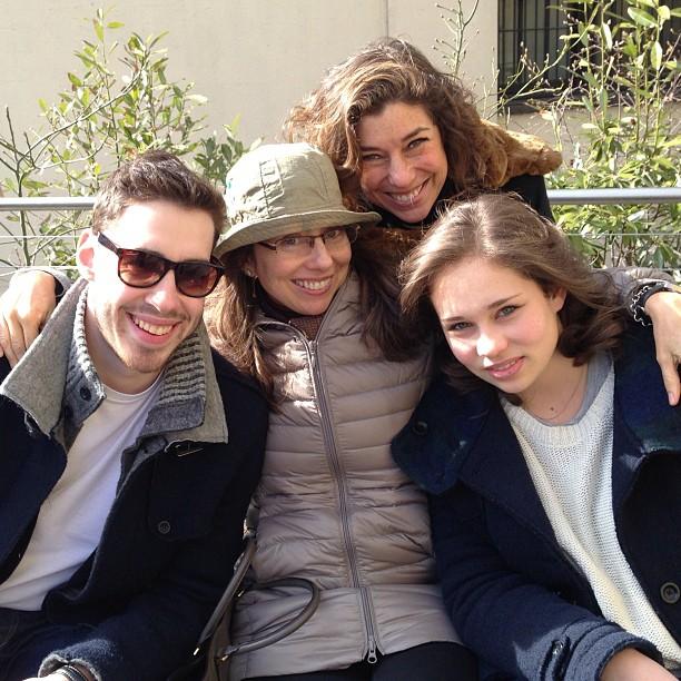 Cosimo, Alessandra, eu e Allegra, foto da Mamisa!