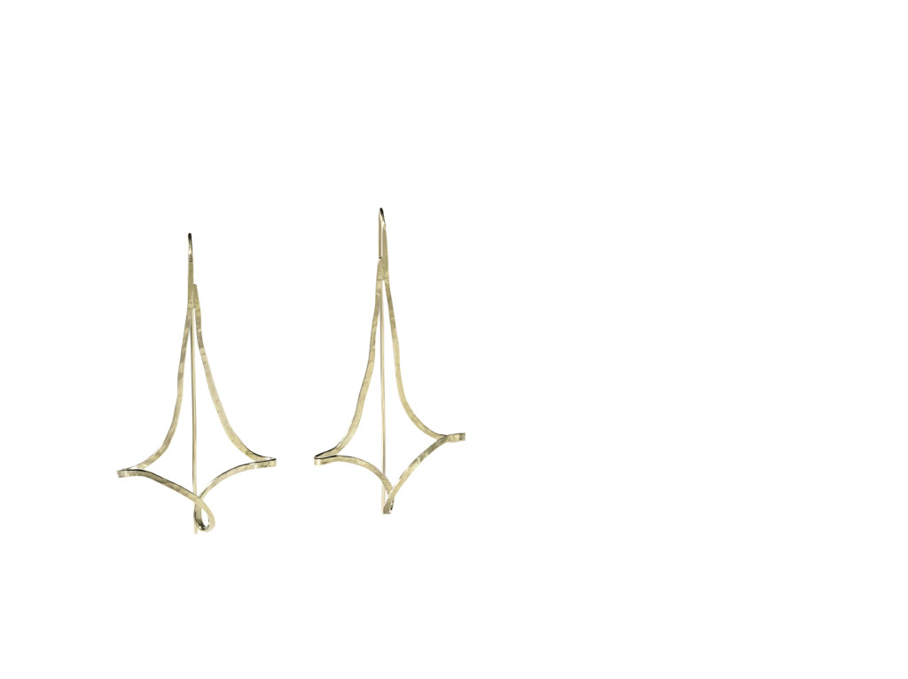 ALVORADA - Brincos de ouro amarelo texturizado