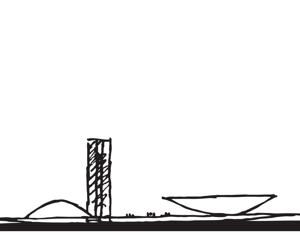BRASÍLIA - desenho de Oscar Niemeyer