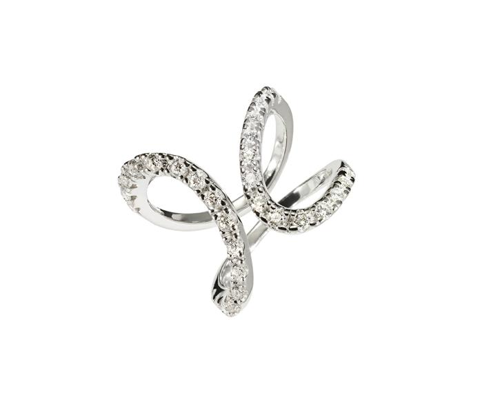 BRASILIA - Anel de ouro branco com diamantes