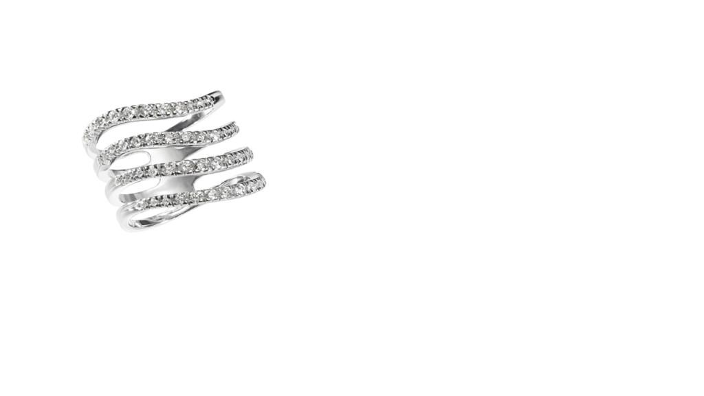 COPAN - Anel de ouro branco com diamantes