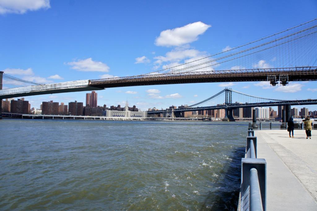 O Brooklyn e Williamsburg bridges