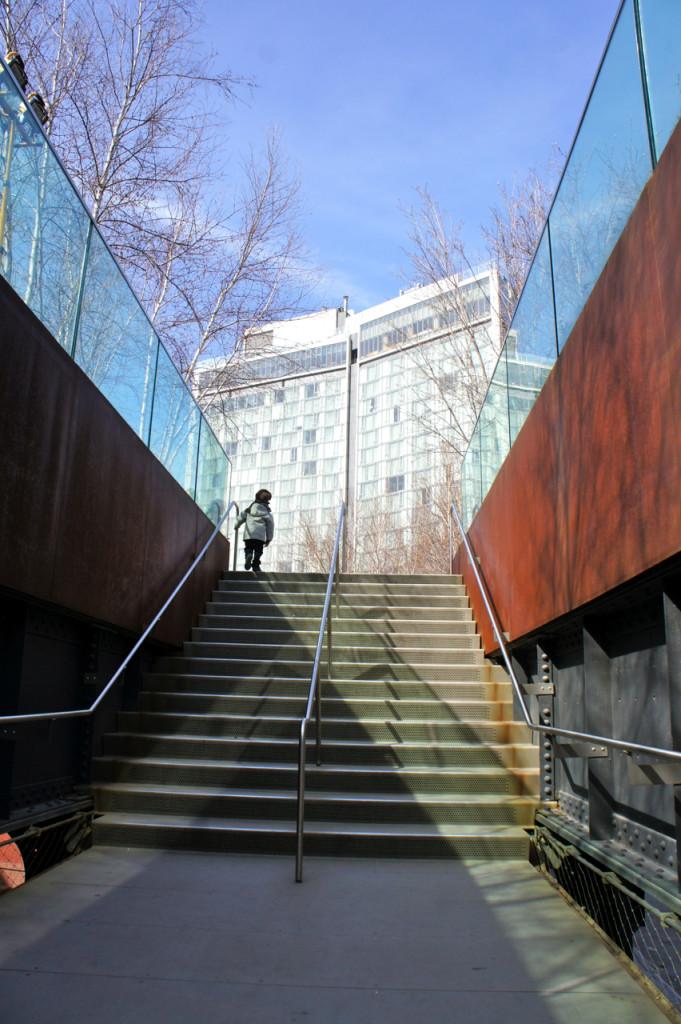 Uma das entradas ao High Line