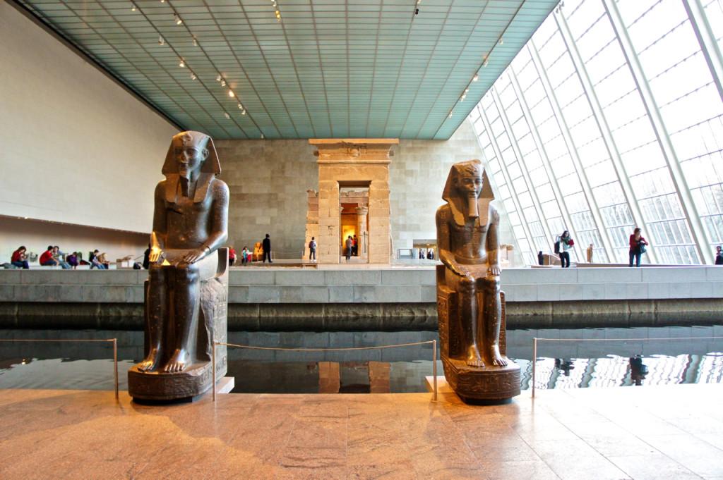 No Egyptian Wing, um dos meus cantos favoritos, o Temple of Dendur.