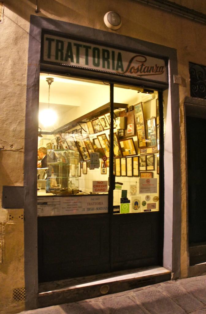 """Trattoria Sostanza, também conhecida como """"Il Troia""""."""
