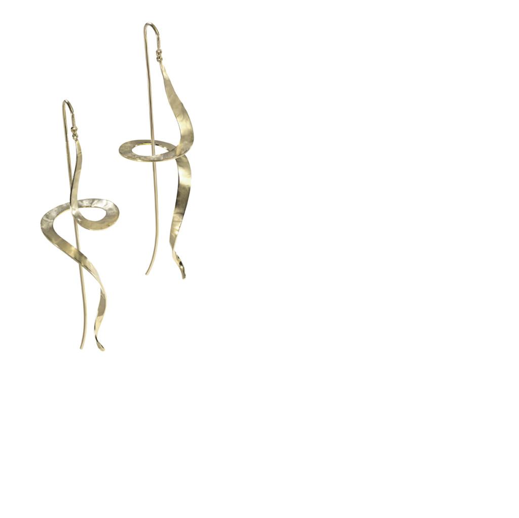 MONUMENTO - Brincos de ouro amarelo texturizado