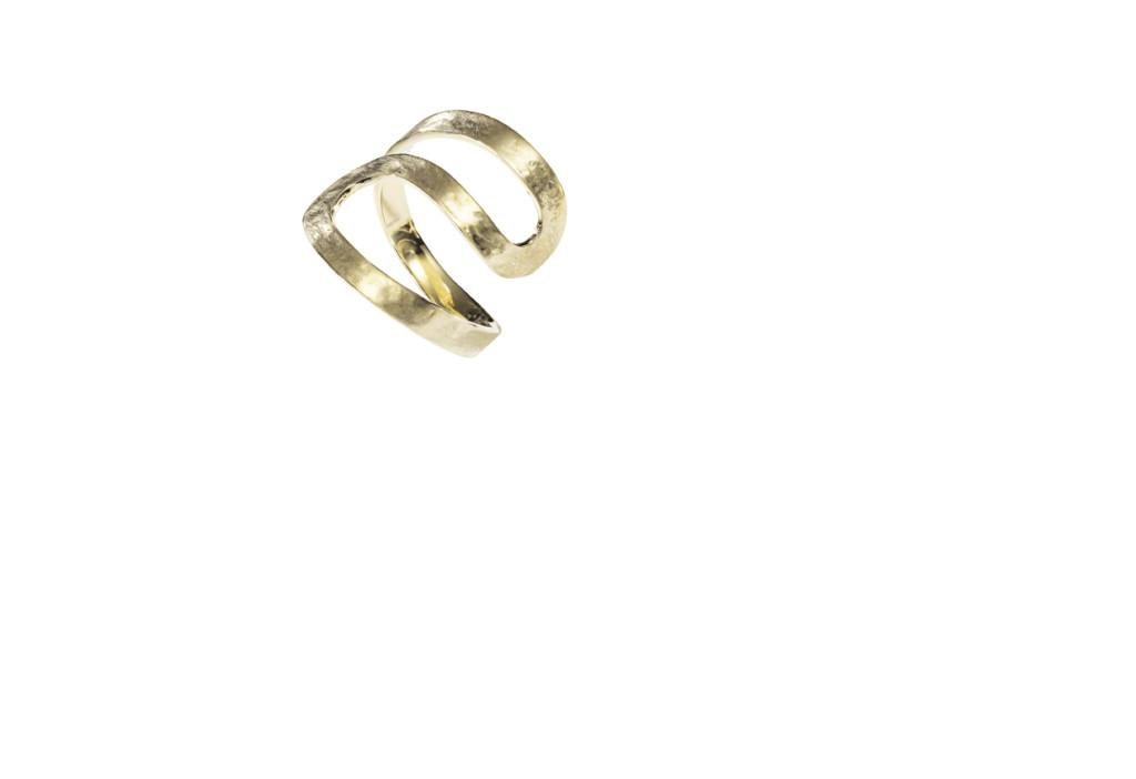 ORLAS - Anel de ouro amarelo texturizado