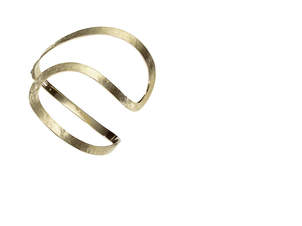 ORLAS - Pulseira de ouro amarelo texturizado