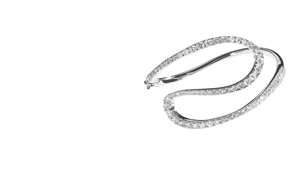 ORLAS - Pulseira de ouro branco com diamantes