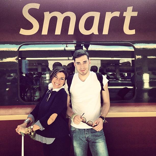 O dia que Cosimo e eu fomos para Milão onde ele fez o teste de admissão para a Bocconi.
