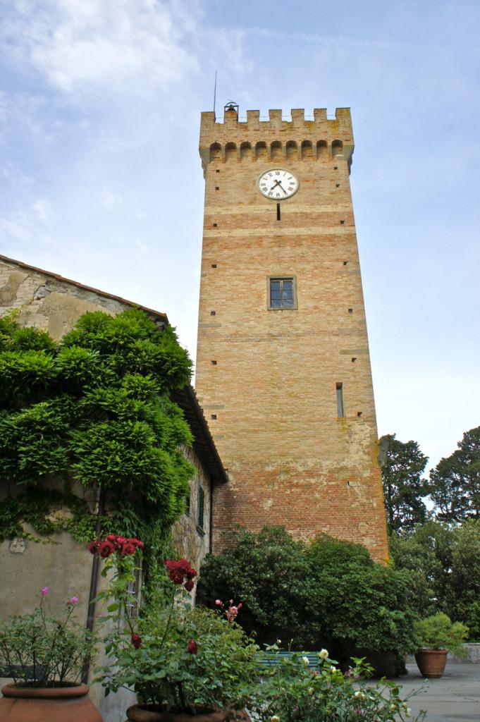 A maravilhosa torre do Castello di Sonnino
