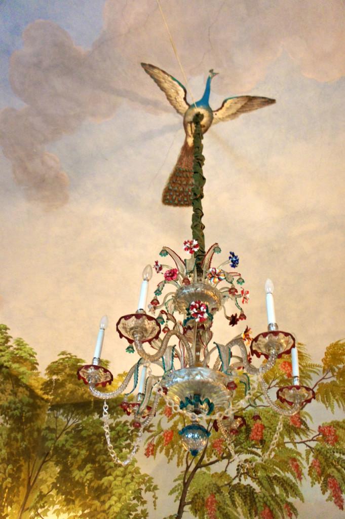 ... e o lustre de Murano