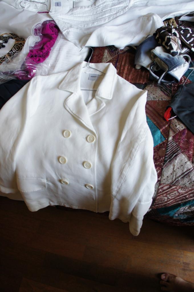 Uma jaquetinha de linho.