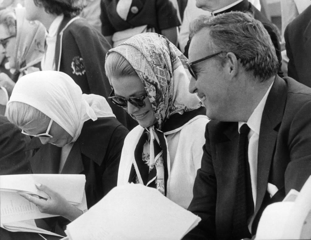 Grace Kelly com seu marido, o Príncipe Ranieri di Mônaco nos anos 70.
