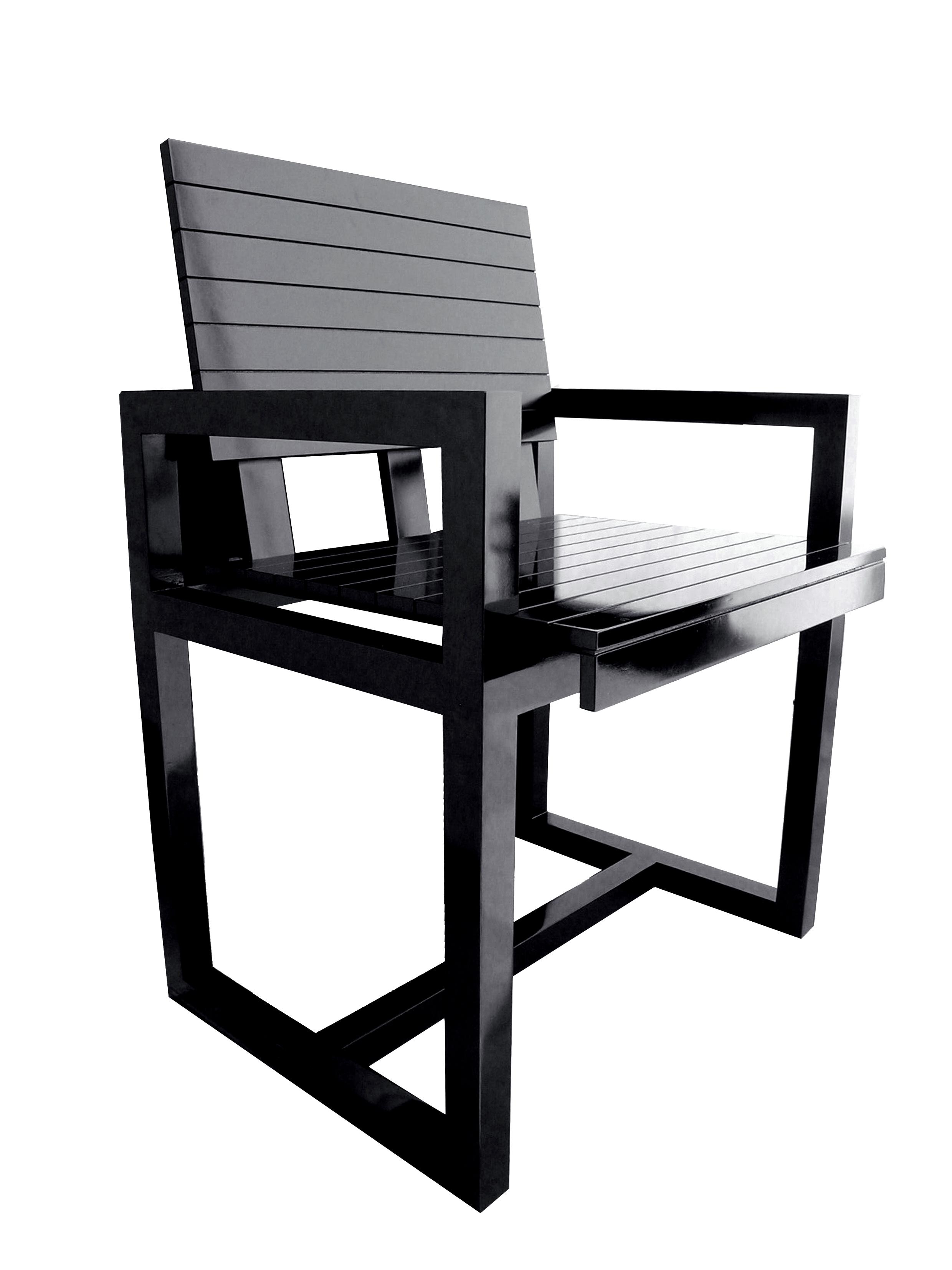 Cadeira IPANEMA Negra.Estevão Toledo.2012