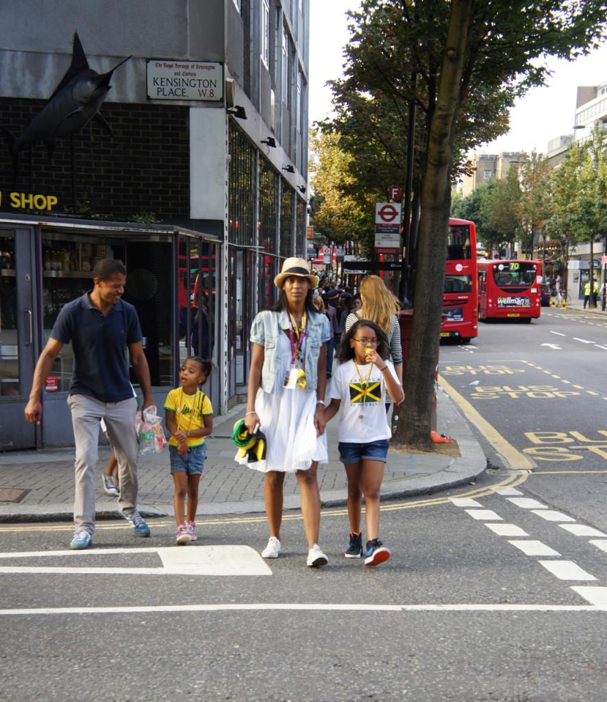 O final do dia de família no Notting Hill Carnival