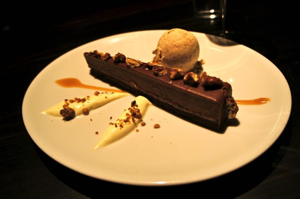 E bolo de chocolate com pecan.  Estava muito, muito bom!
