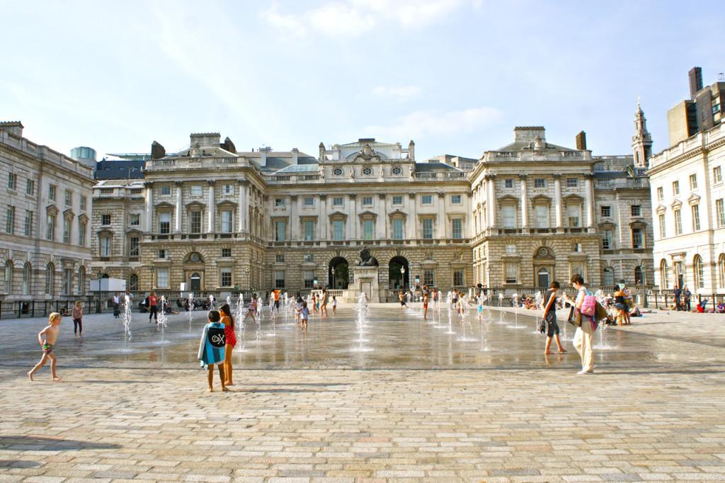 Somerset House e seus jogos de água!