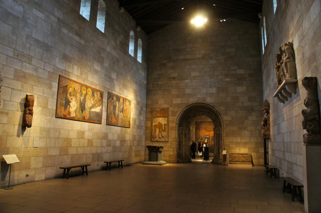 Uma sala inteira foi criada para dar uma idéia do tamanho que seria esta igreja.
