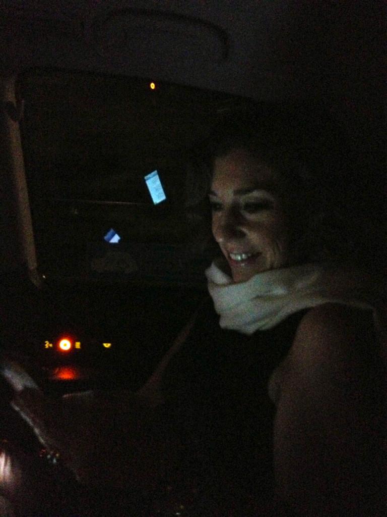 No taxi...respondendo aos comentários!