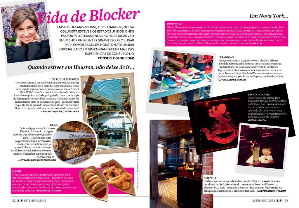 Coluna Consuelo Blocker Vida de Blocker Dicas de Nova Iorque e Houston