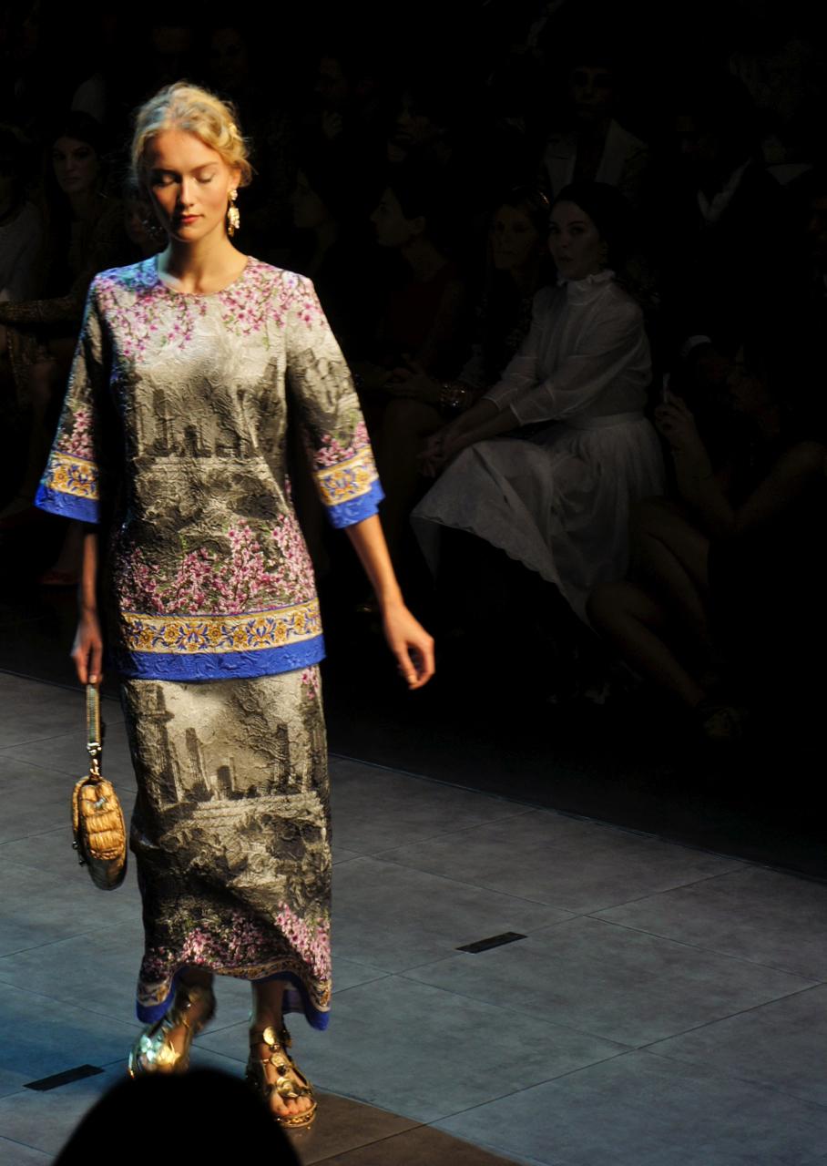 Dolce e Gabbana Spring Summer 2014, semana de moda de Milão