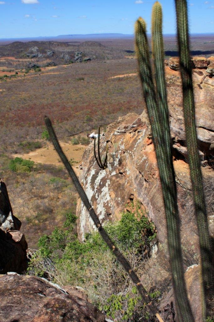 Mas a vista lá de cima valia muito a pena. Dá pra ver o Artur? Imaginem meu medo quando ele fez isso!