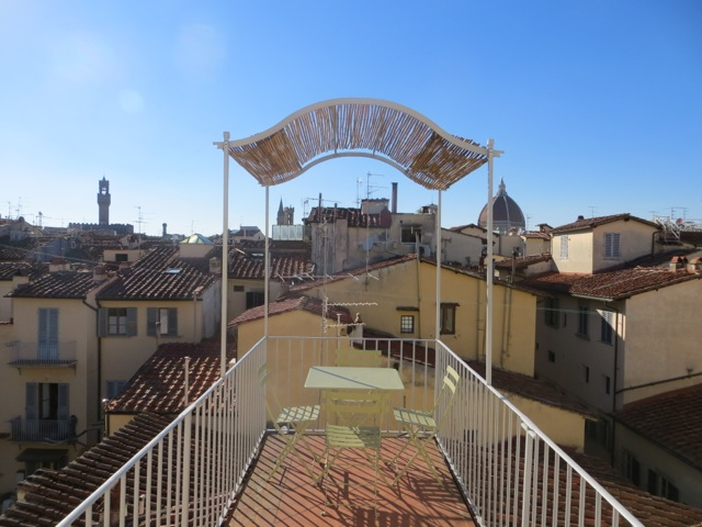 O terraço com vista de Florença